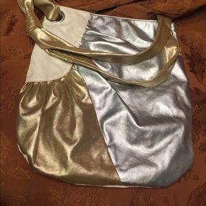 Nine West shoulder bag in silver & gold